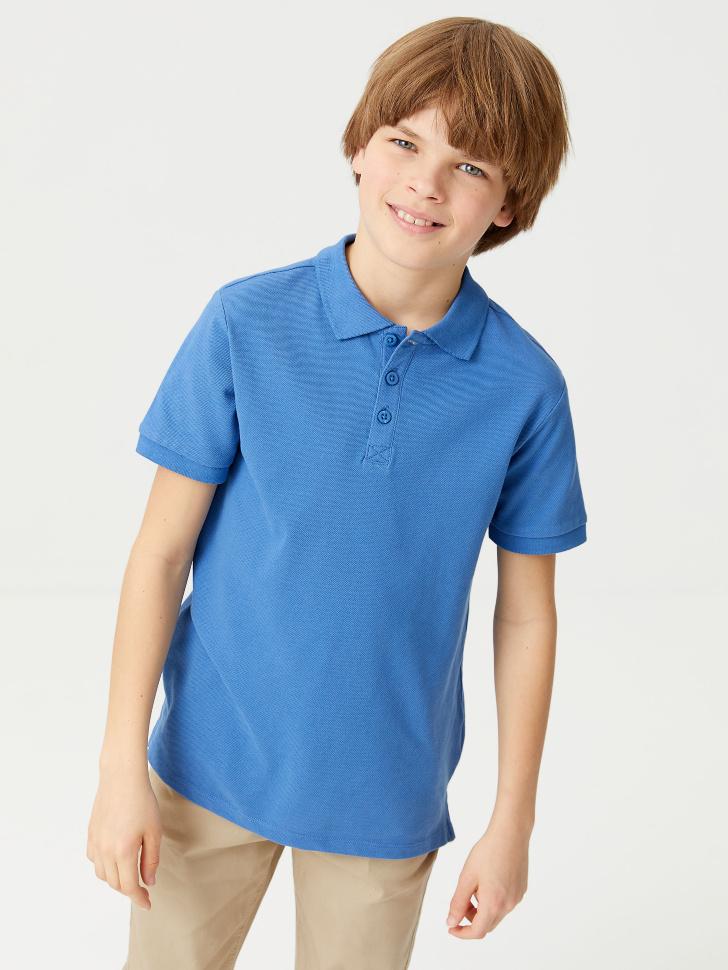 Футболка-поло для мальчиков (голубой, 152/ 12-13 YEARS)