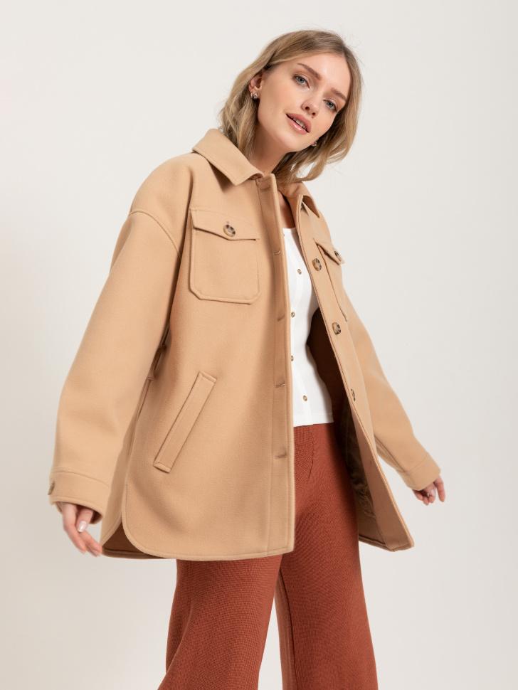 куртка-рубашка (бежевый, S)