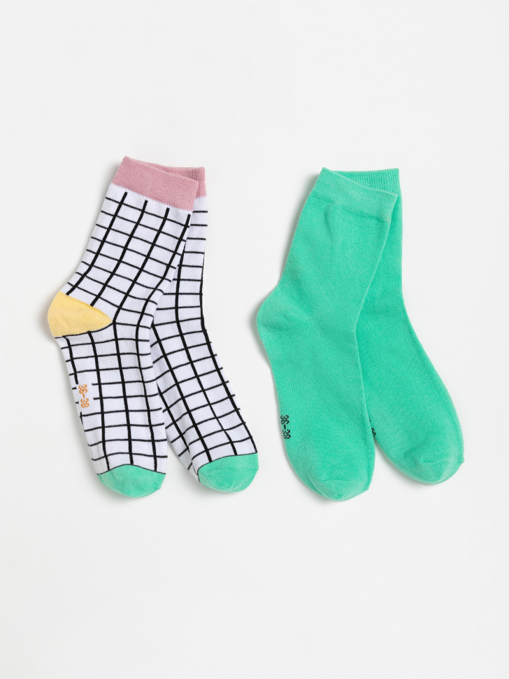 набор носков для женщин (принт, 25-27)