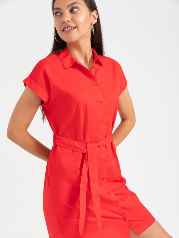 SELA Платье-рубашка (красный, M)