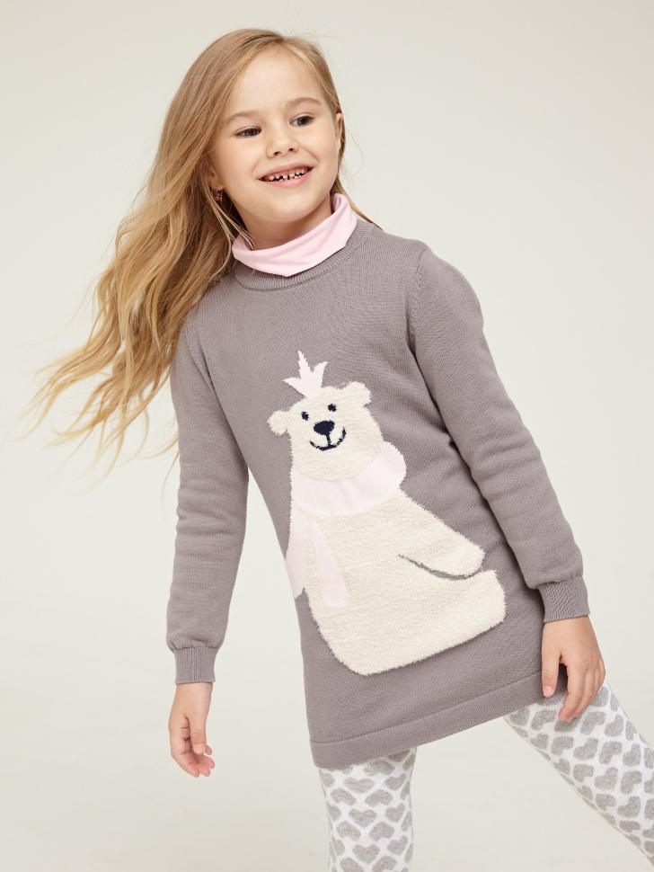 Купить со скидкой Платье для девочки (серый, 6)
