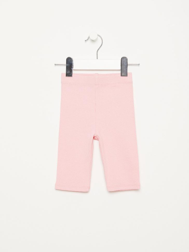SELA Велосипедки в рубчик для девочек (розовый, 110/ 5-6 YEARS)