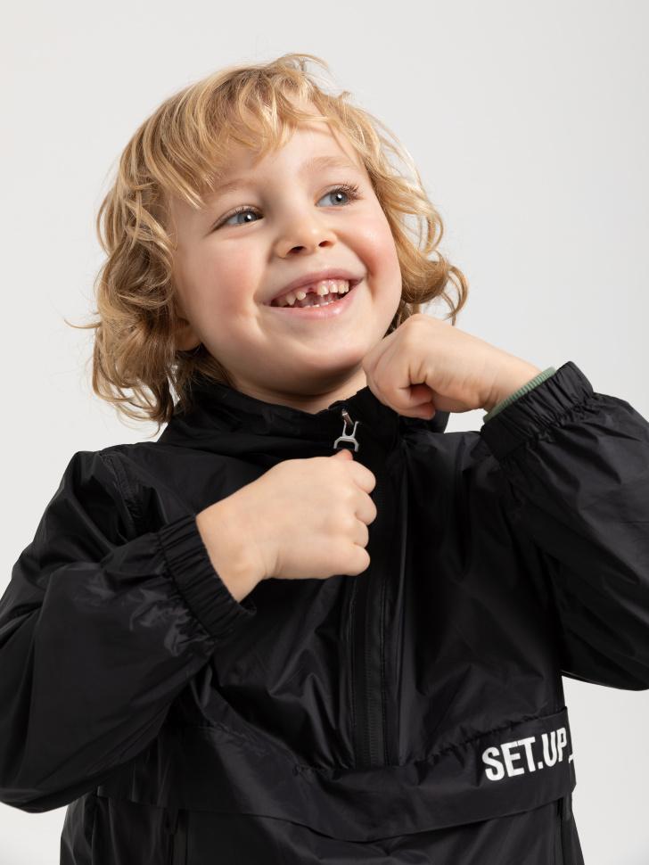 Куртка-анорак для мальчиков (черный, 104/ 4-5 YEARS)