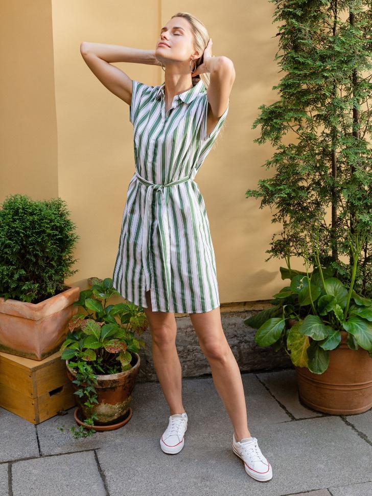 SELA Платье-рубашка (зеленый, L)