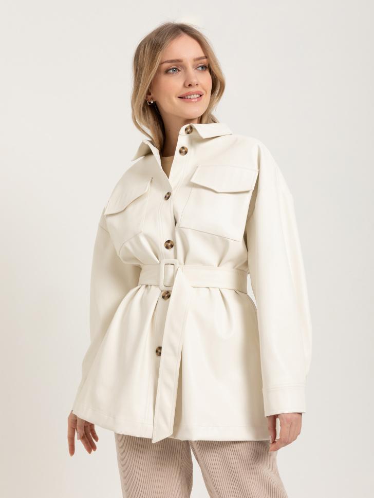 куртка из экокожи (белый, S)