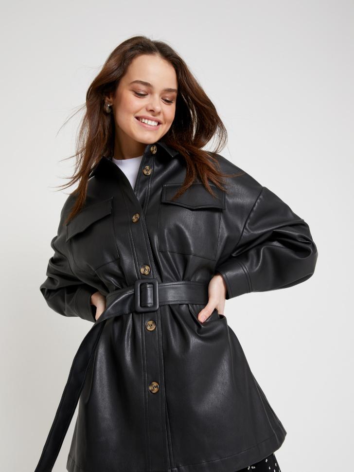 куртка из экокожи (черный, S)