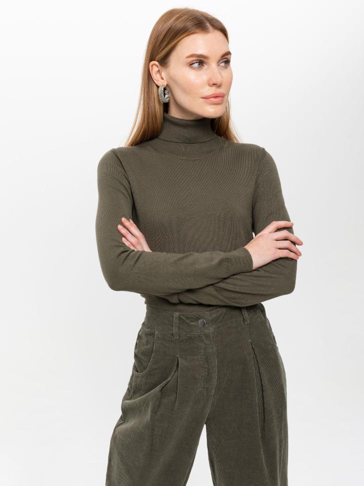 свитер женский (зеленый, S)