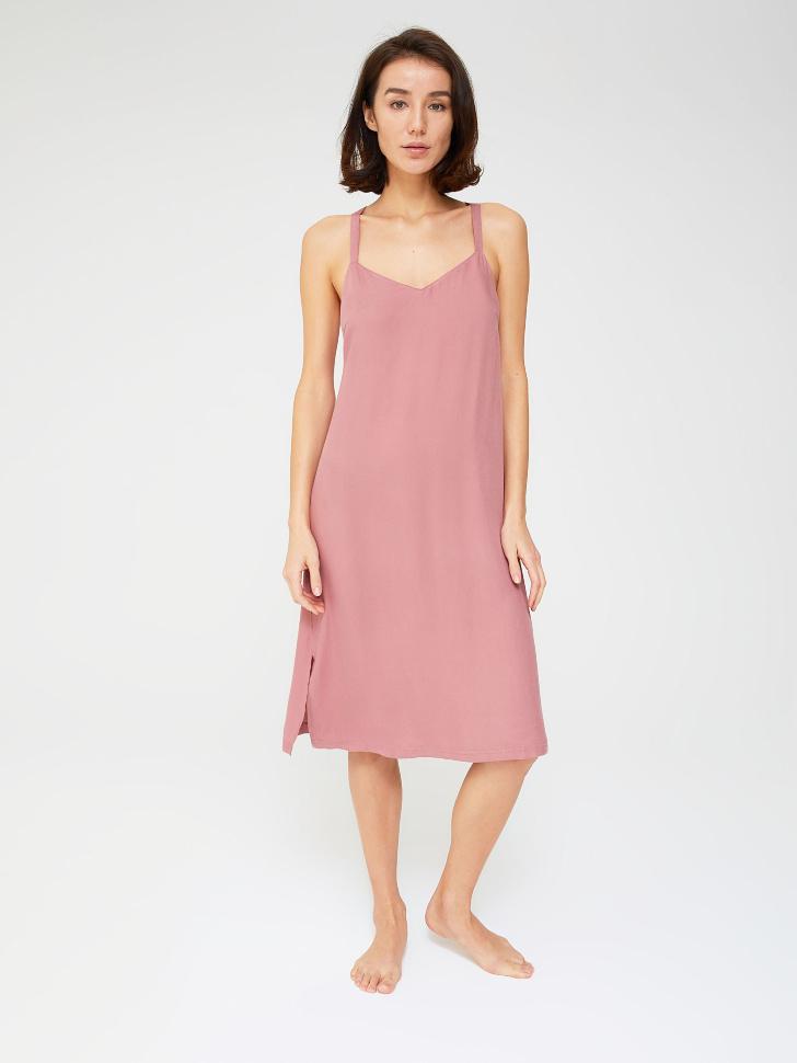 Ночная сорочка из вискозы (розовый, M)