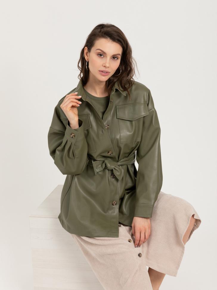куртка из экокожи (зеленый, S)