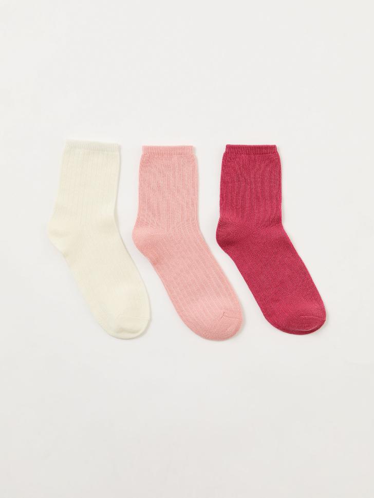 Набор из 3 пар носков для девочек (принт, 20-22)