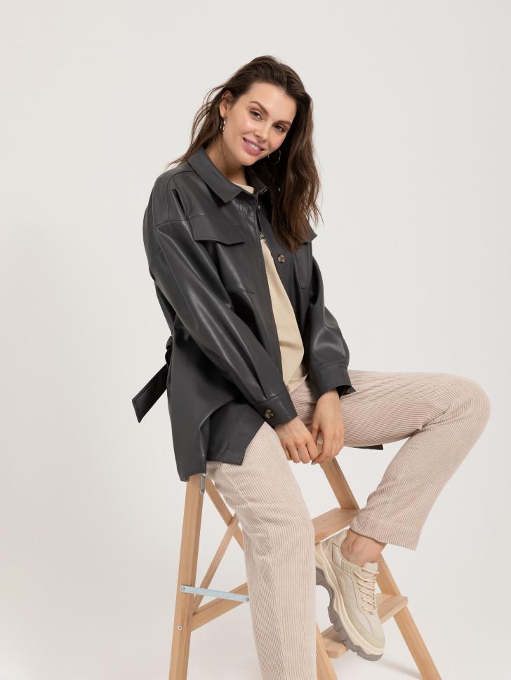 куртка из экокожи (серый, M)