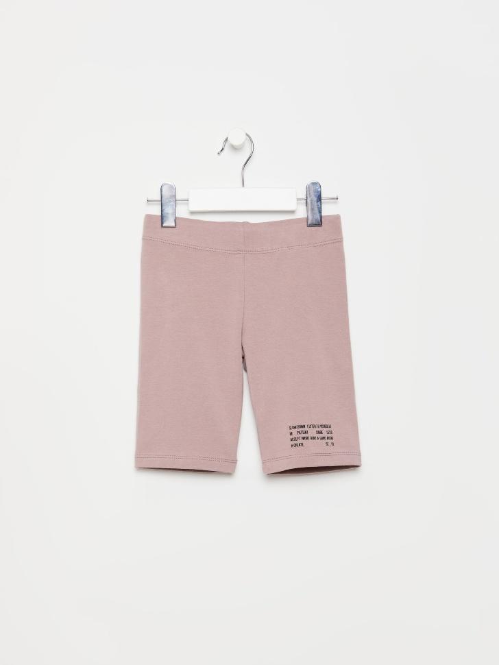 SELA Велосипедки с принтом для девочек (розовый, 110/ 5-6 YEARS)