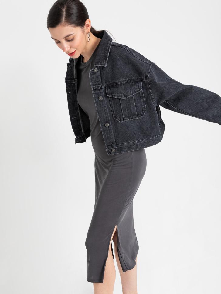 SELA Платье-футболка (серый, XL)