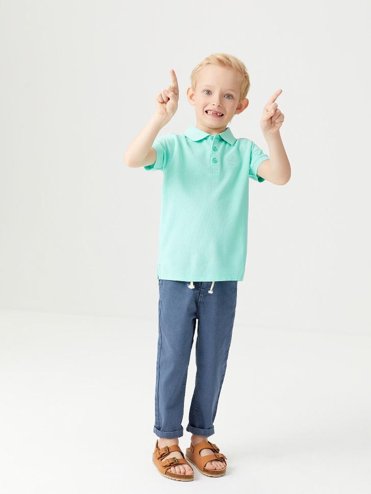 Футболка-поло для мальчиков (зеленый, 98/ 3-4 YEARS)