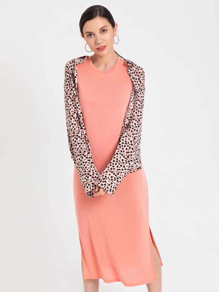 SELA Платье-футболка (оранжевый, XS)