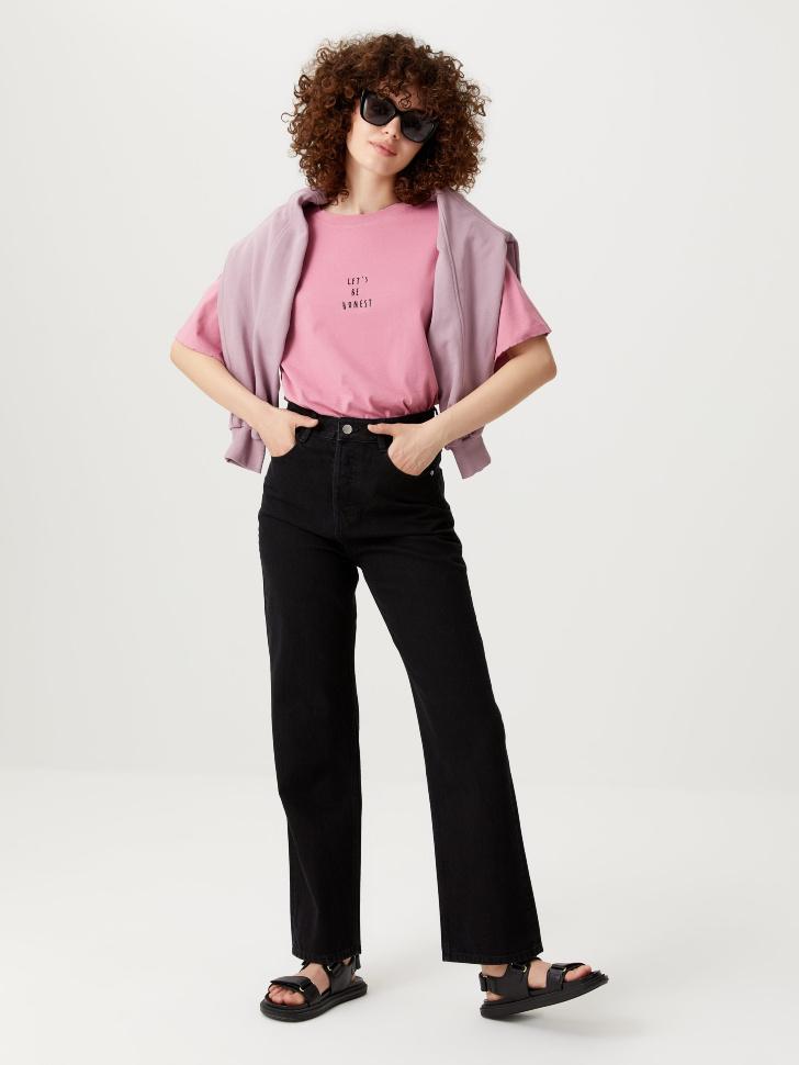 Прямые джинсы (черный, M)
