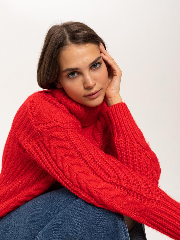 свитер женский (красный, XS)