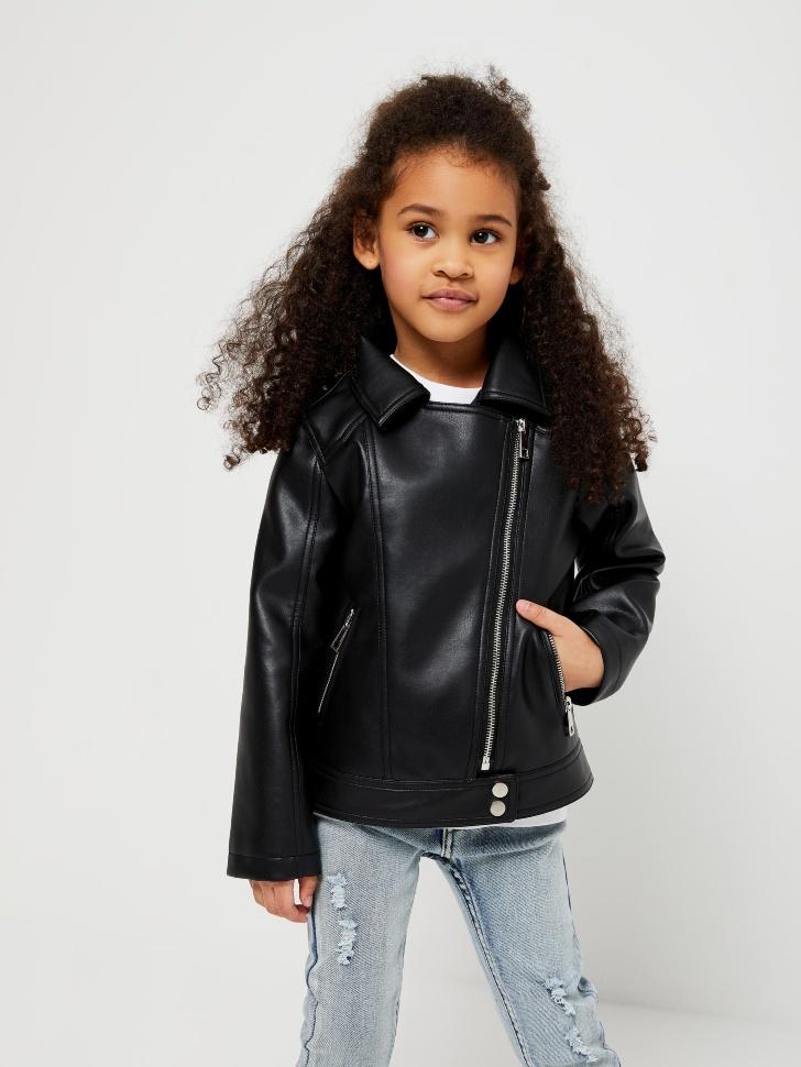 Куртка-косуха для девочек (черный, 98/ 3-4 YEARS)