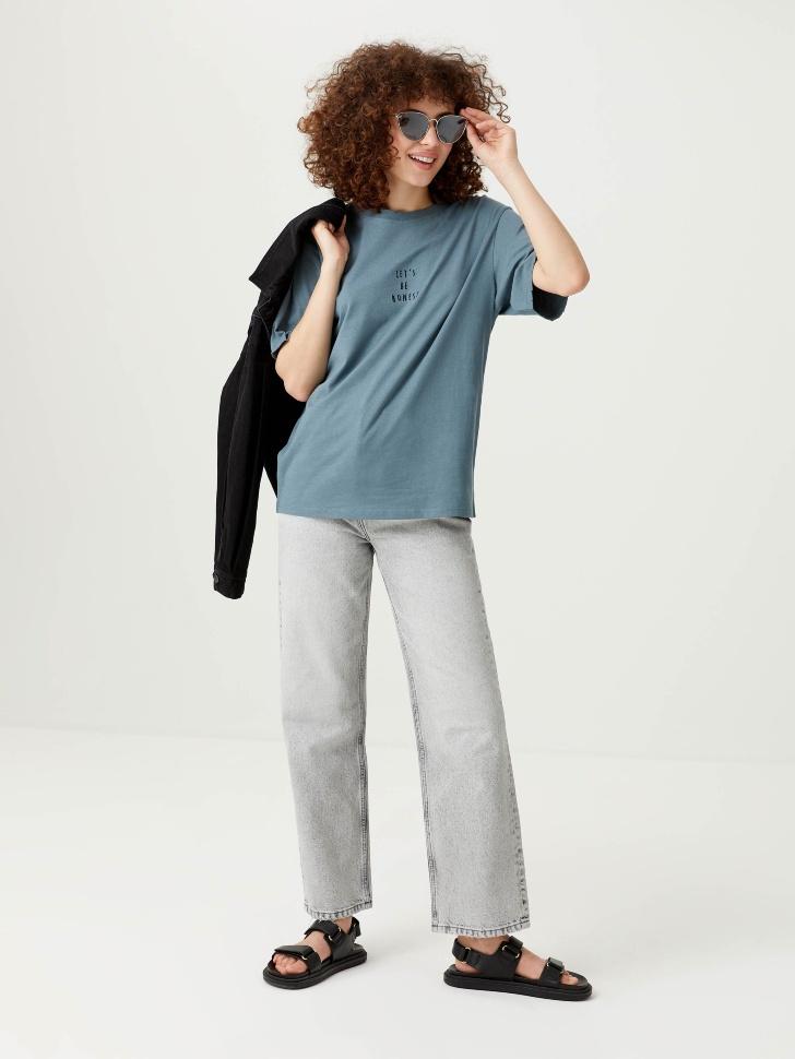 Прямые джинсы (серый, S)