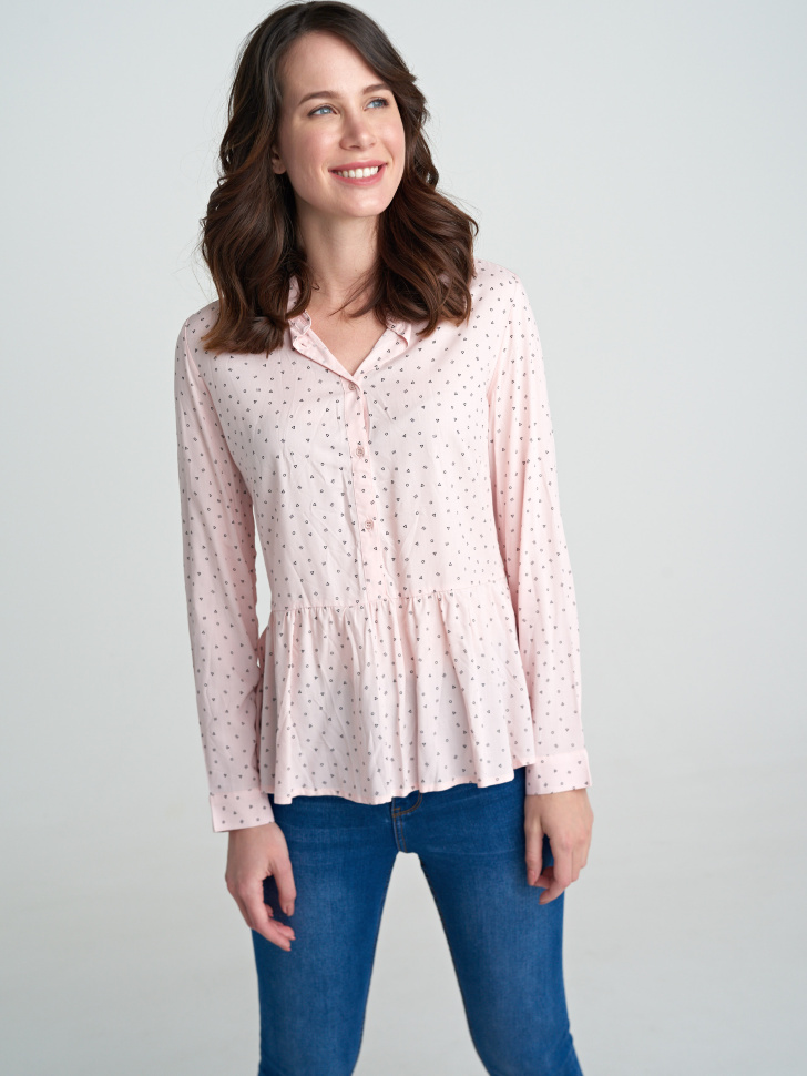 Блузка (розовый, XXS)