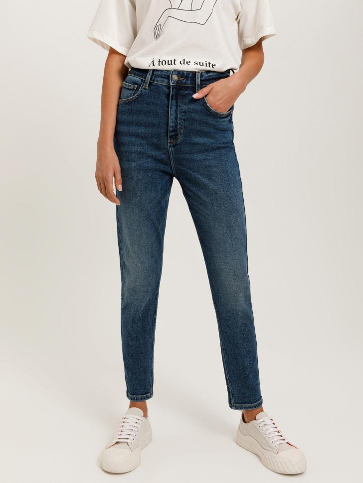 брюки джинсовые женские (синий, S)