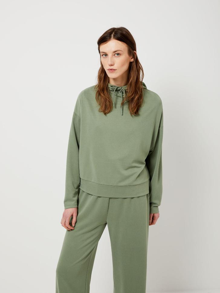 SELA Худи из модала (зеленый, XL)