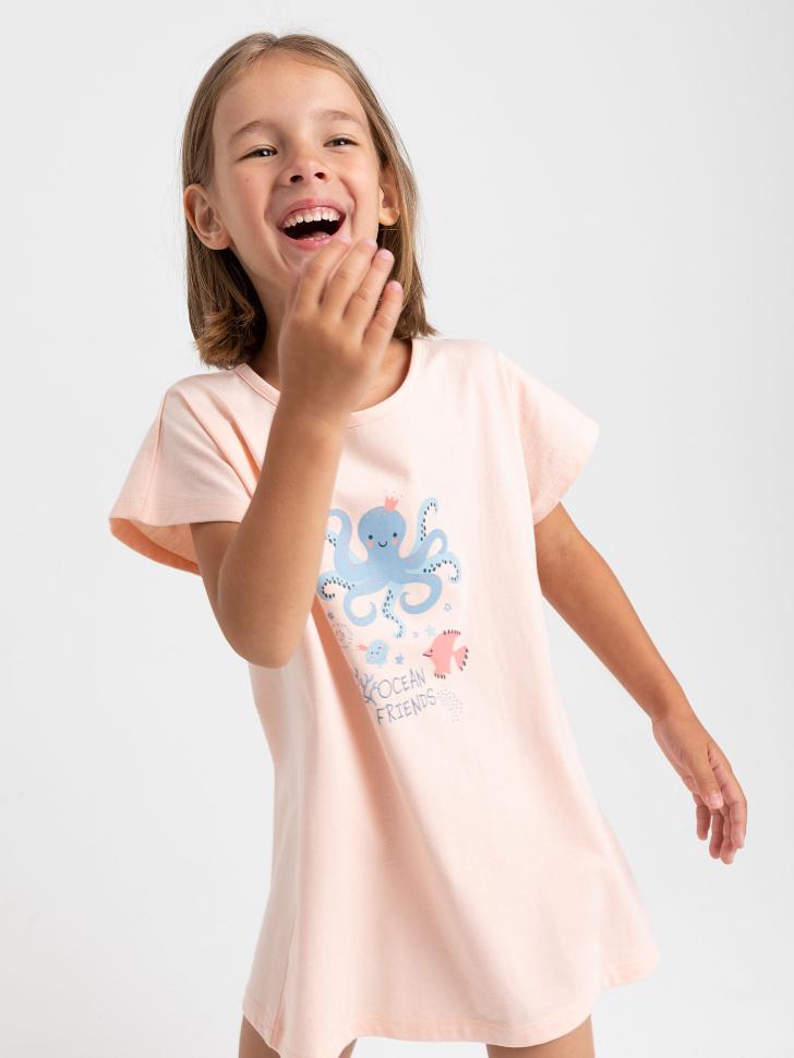 SELA ночная сорочка для девочек (розовый, 116-122 (6-7 YEARS))