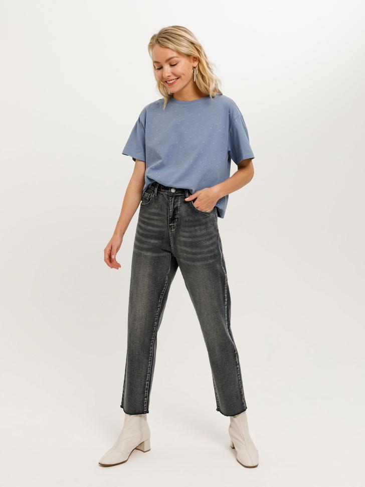 Джинсы slim fit (серый, XL)