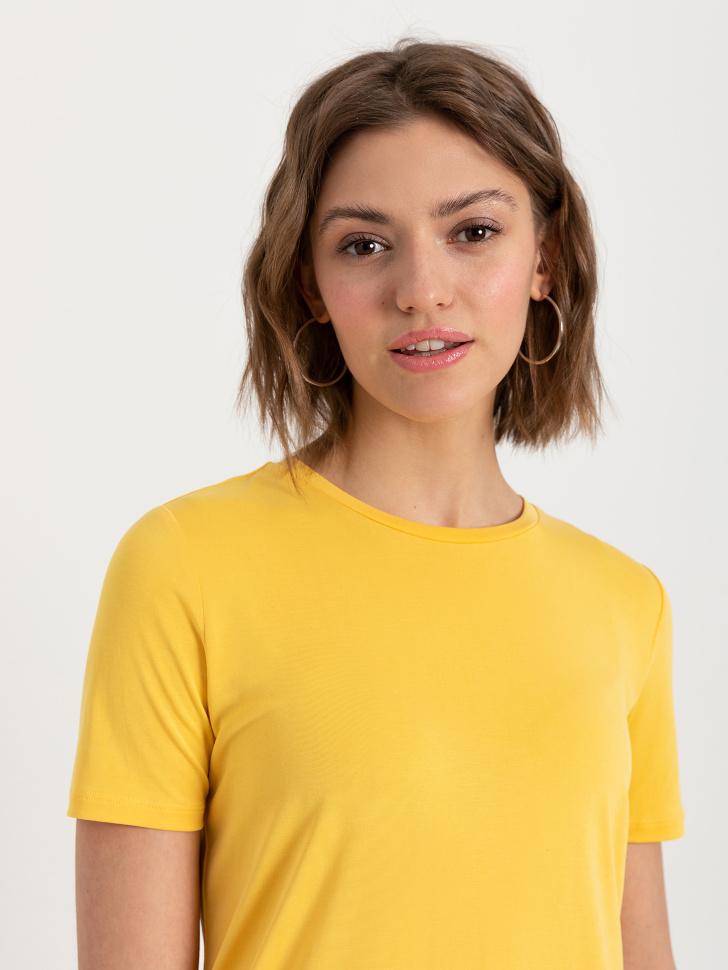 SELA Футболка из модала (желтый, M)