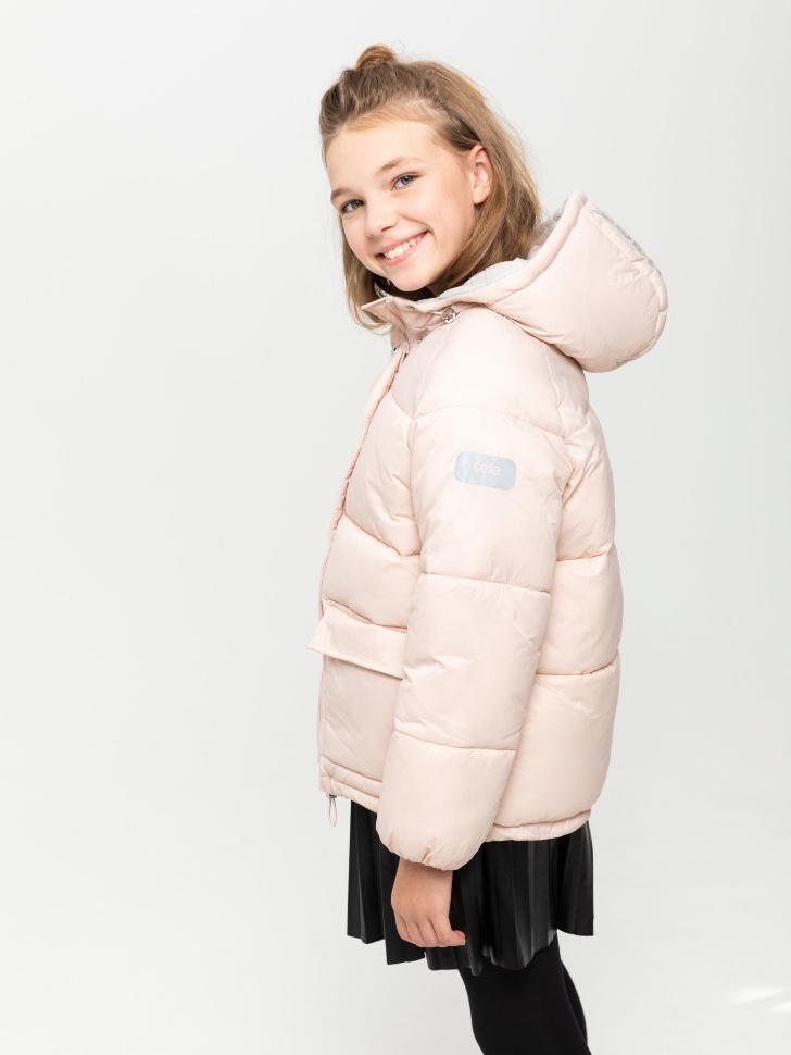 Куртка с капюшоном для девочек (розовый, 146/ 11-12 YEARS)