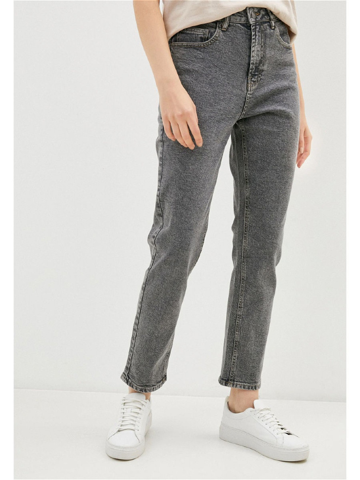 брюки джинсовые женские (серый, L)