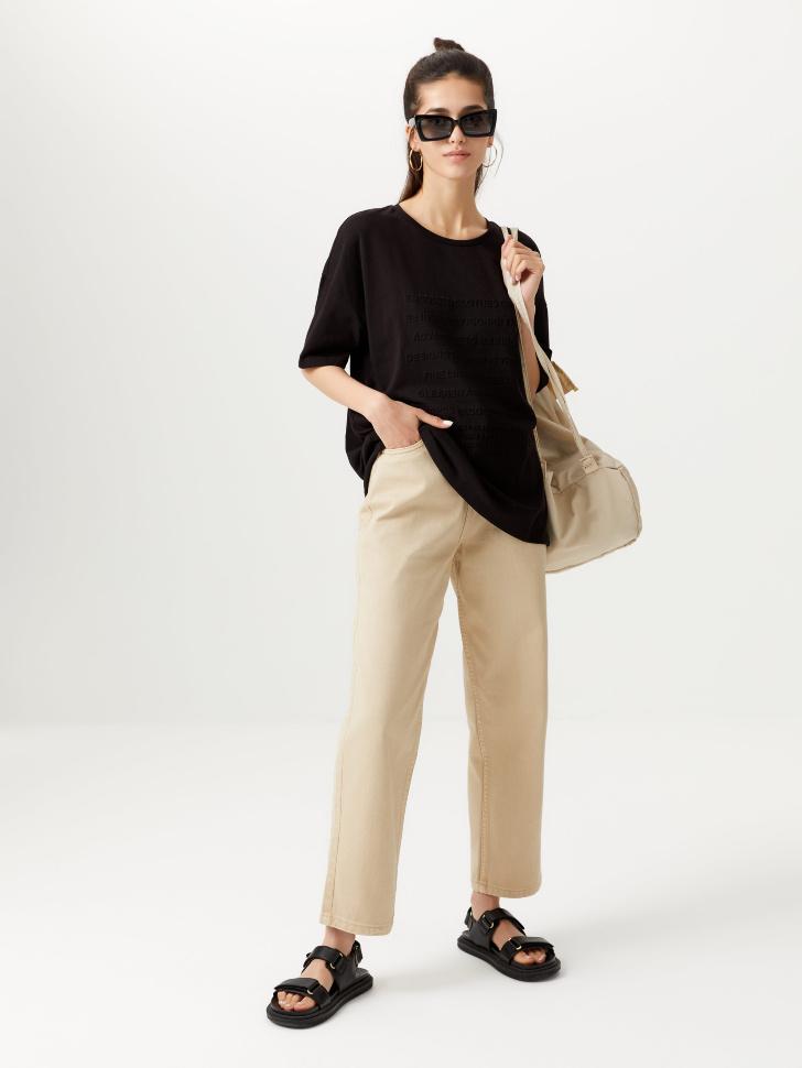 Прямые укороченные джинсы (белый, M)