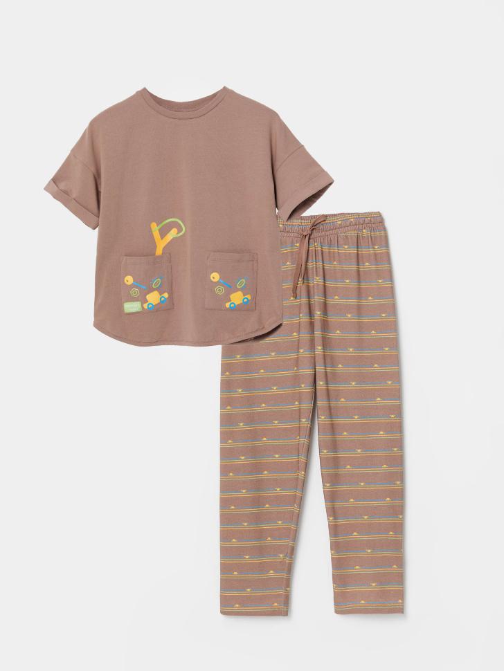 Пижама с ярким принтом для мальчиков (принт, 116-122 (6-7 YEARS))