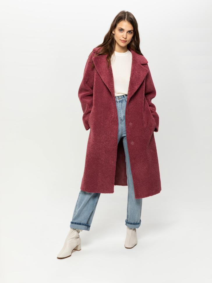 Двустороннее пальто (малиновый, S)
