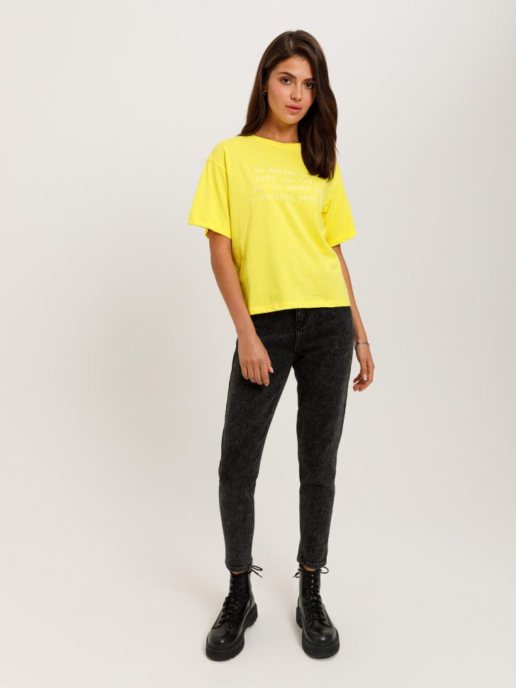 брюки джинсовые женские (серый, M)