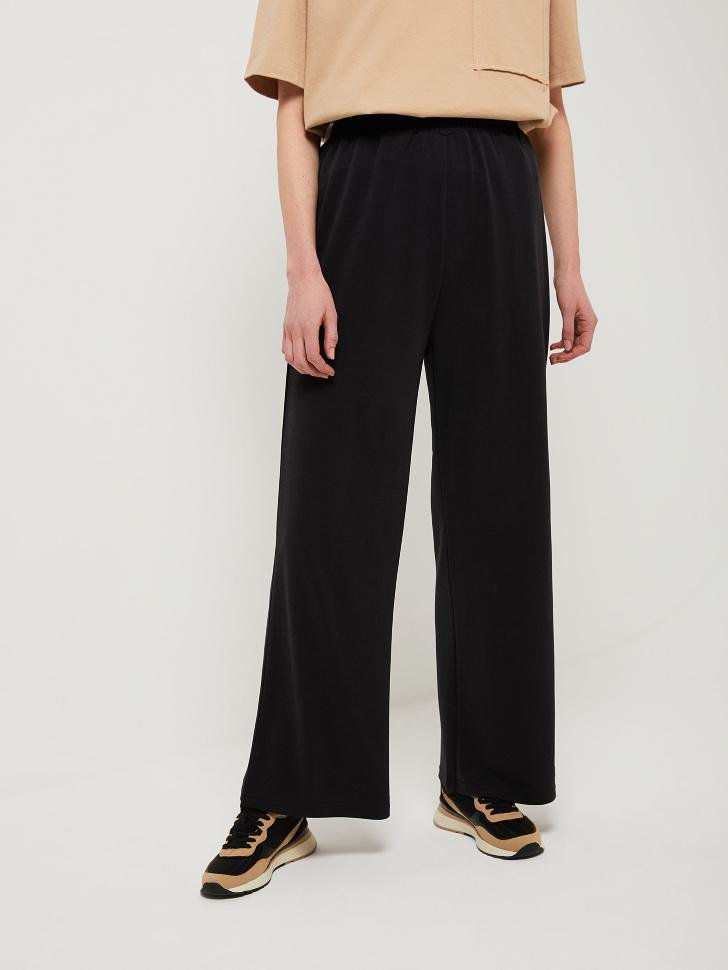 SELA Широкие брюки из модала (черный, XL)