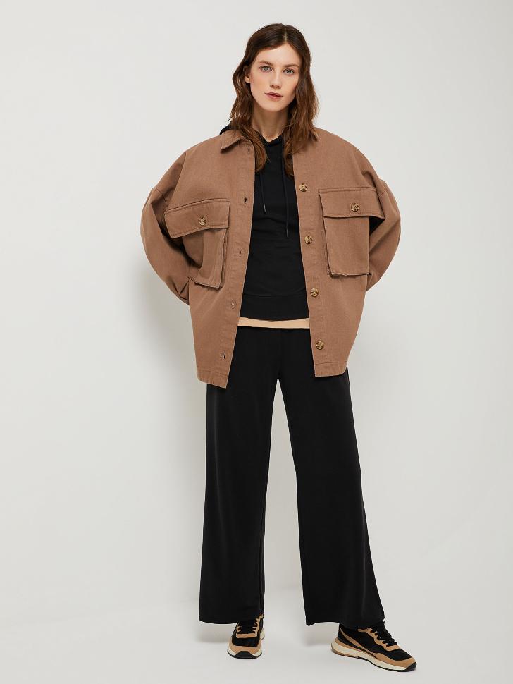 SELA Широкие брюки из модала (черный, XS)