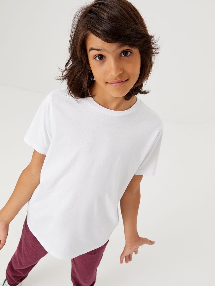 Базовая футболка (белый, 146/ 11-12 YEARS)