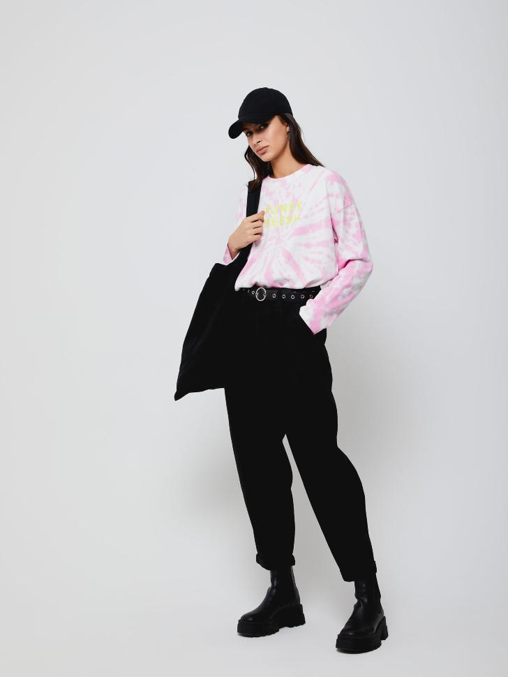 брюки джинсовые женские (черный, XS)
