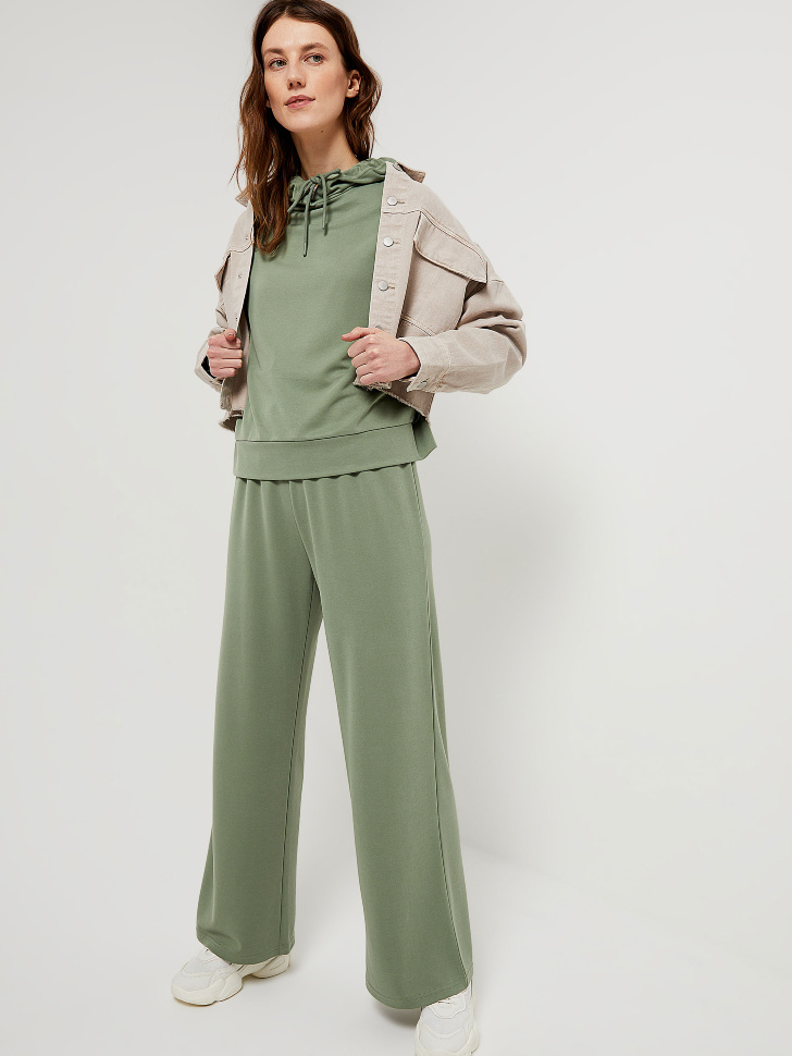 SELA Широкие брюки из модала (зеленый, S)