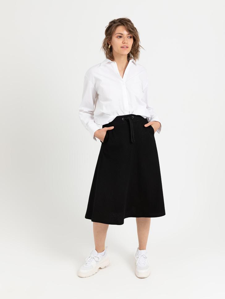SELA юбка женская (черный, M)
