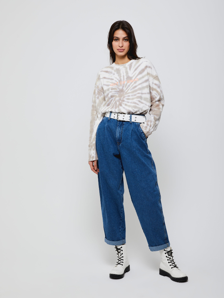 брюки джинсовые женские (синий, M)