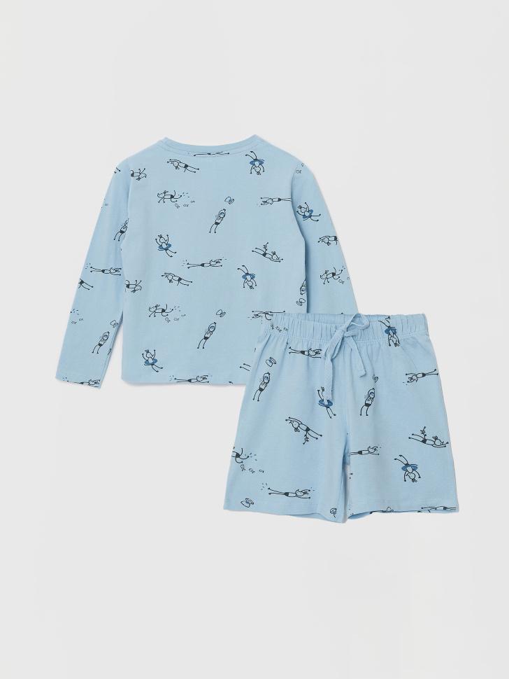 Трикотажная пижама для мальчиков (голубой, 92-98 (2-3 YEARS))