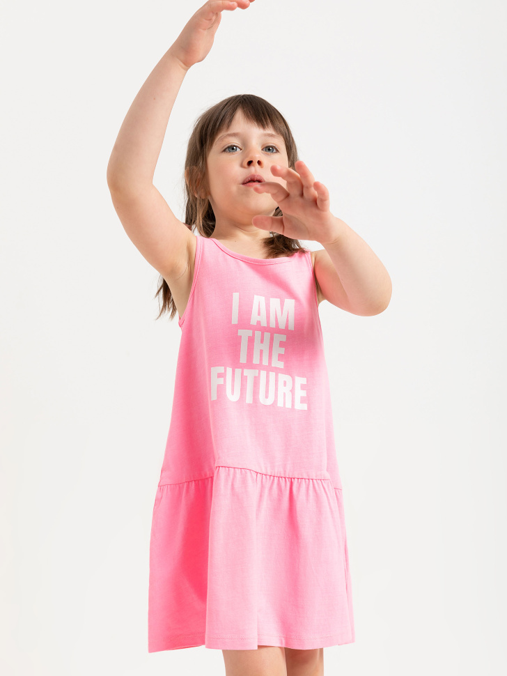 SELA Два трикотажных платья для девочек (серый, 110/ 5-6 YEARS)