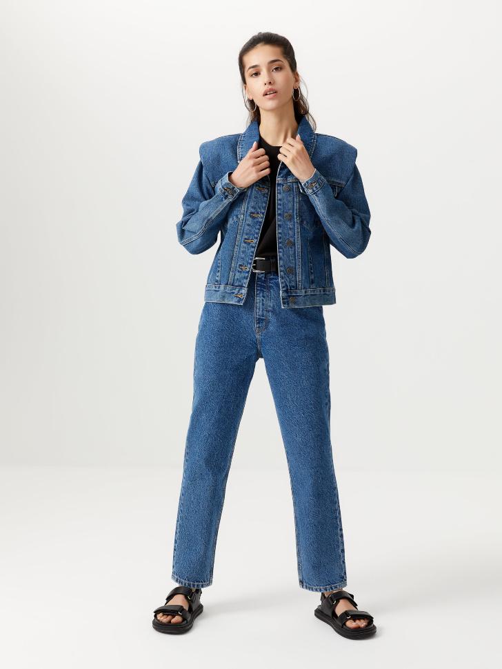 Базовые джинсы мом (синий, M)