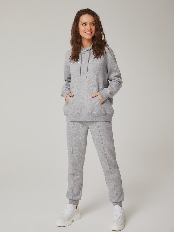 трикотажные брюки (серый, XS)