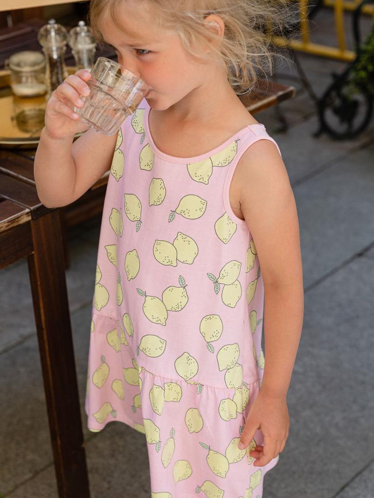 SELA Два трикотажных платья для девочек (розовый, 98/ 3-4 YEARS)