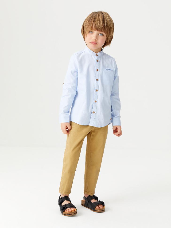 Хлопковая рубашка для мальчиков (голубой, 98/ 3-4 YEARS)