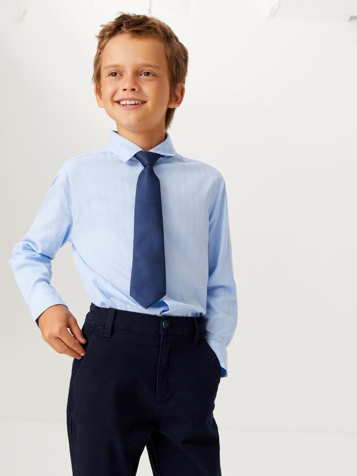 Базовая школьная рубашка для мальчиков (голубой, 140/ 10-11 YEARS)