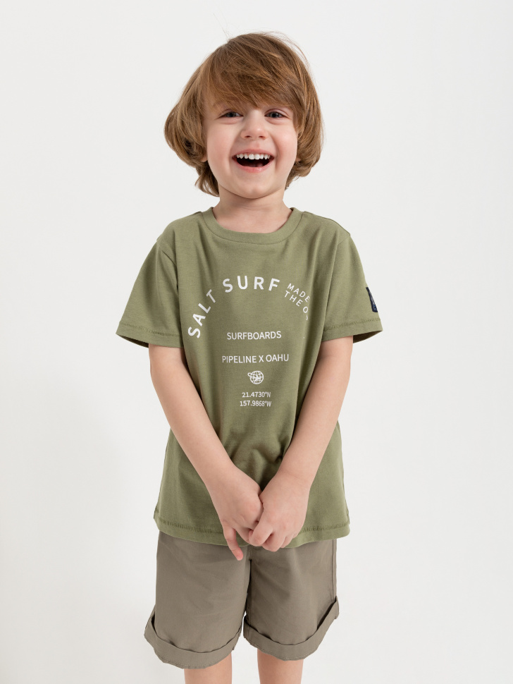 SELA Футболка для мальчиков (зеленый, 110/ 5-6 YEARS)